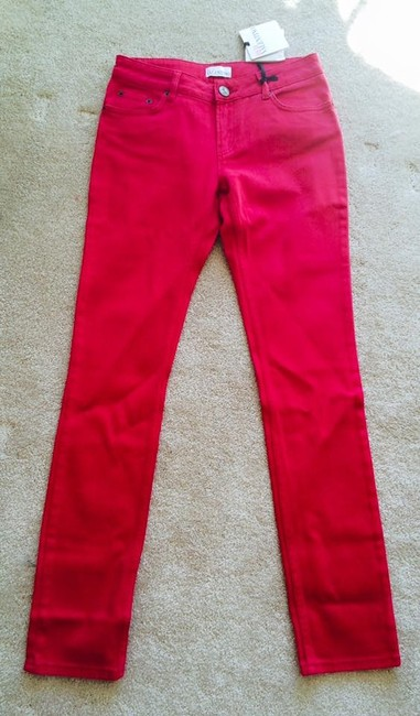 RED Valentino Straight Leg Jeans-Medium Wash