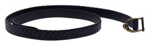 Etienne Aigner Etienne Aigner Braided Navy Leather Belt