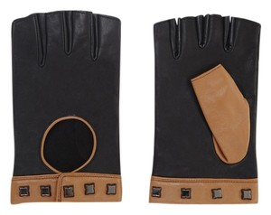 BCBGMAXAZRIA BCBGMAXAZRIA Icon Studded Color-Blocked Motorcycle Glove