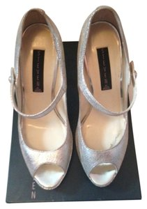 Steven by Steve Madden Metallic Mary-jane Silver Pumps