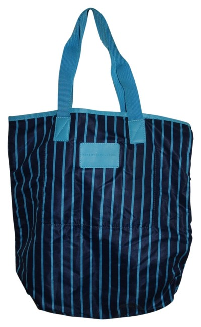 Item - Packables Lighthearted Shopper Blue Multi Nylon Tote