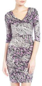 Marc New York short dress Purple Snakeprint Floral Snakeskin on Tradesy