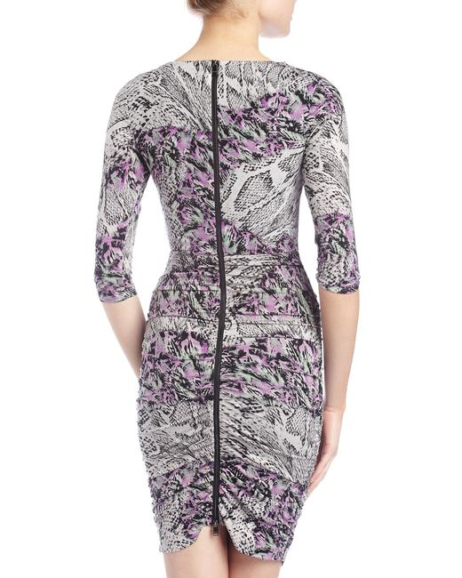 Marc New York short dress Purple Snakeprint Floral Ruched Bodycon on Tradesy