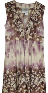 Sportmax short dress Lilac & Cream Spring/summer Sleeveless Silk Dress. on Tradesy