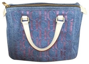 Carolina Herrera Satchel in Blue/pink