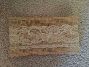 Ivory Lace And Burlap #2