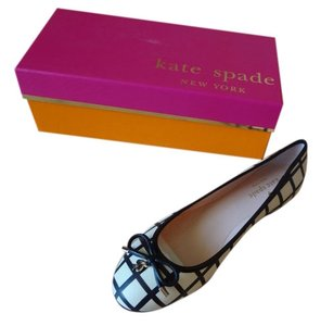 Kate Spade NEW Black and Cream Flats