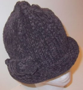 Chenille Roll Hat Cap Brown By August Accessories Soft Bow Detail Winter