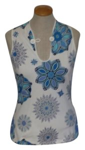 Emilio Pucci Top White and blue print
