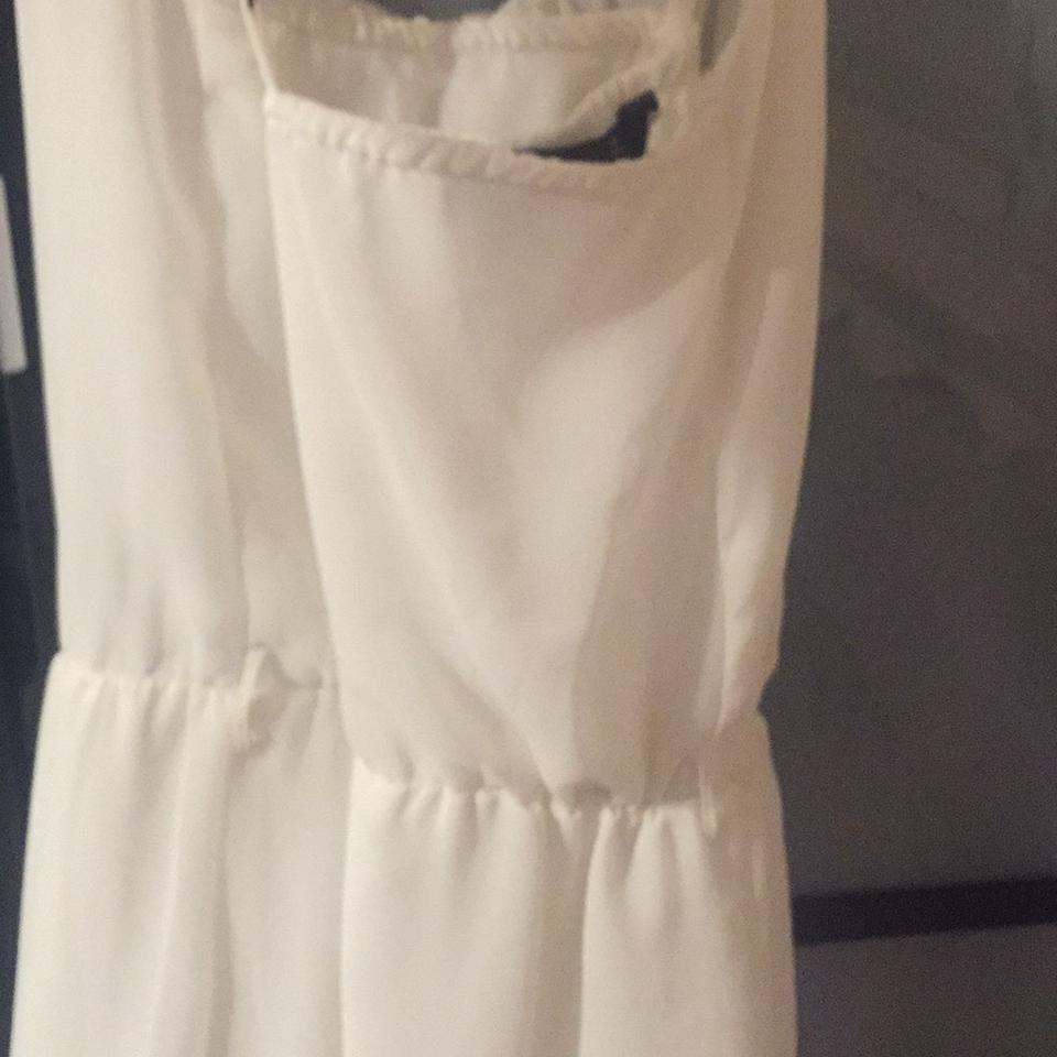 Zara White Greek Goddess High Low Formal Dress Size 4 S Tradesy