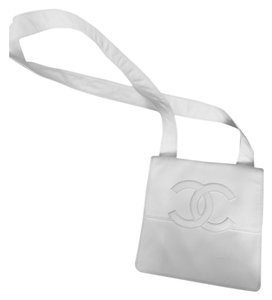 Chanel flat white cross body Cross Body Bag