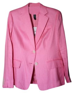 Ralph Lauren Linen Two-button Front Pink Blazer