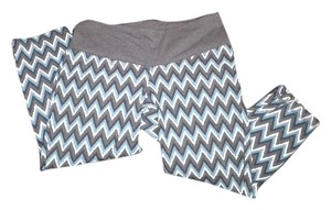 BCG CHEVRON PRINT CAPRI LEGGINGS