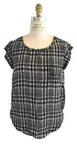 Joie Silk Top Houndstooth