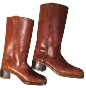 Dingo Rugged Thick Soles 7 Cowboy Winter Quality Tan Brown Boots