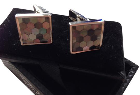 Ike Behar Mother of Pearl Cuff Links