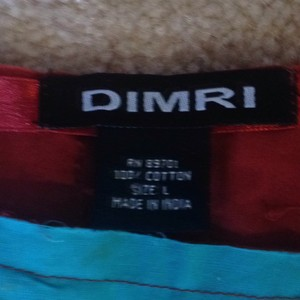 Dimri Skirt Maroon-tan-aqua blue