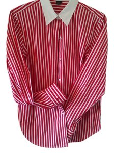 Ralph Lauren Top white/red stripes