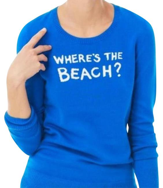 Preload https://item1.tradesy.com/images/lilly-pulitzer-blue-new-with-tag-marielle-intarsia-wheres-the-beach-sweaterpullover-size-8-m-5748625-0-2.jpg?width=400&height=650