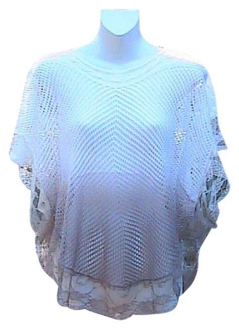 Preload https://item5.tradesy.com/images/white-and-brown-crochet-loose-knit-lace-sweaterpullover-size-os-one-size-5748769-0-0.jpg?width=400&height=650