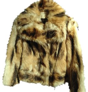 Tissavel of France Faux Fur Motorcycle Jacket Vintage Fur Coat