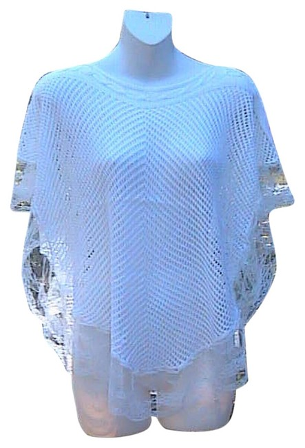 Preload https://item2.tradesy.com/images/solid-white-crochet-loose-knit-lace-sweaterpullover-size-os-one-size-5748841-0-1.jpg?width=400&height=650