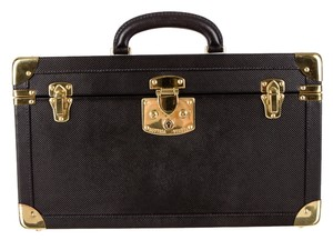 Bottega Veneta Leather Cosmetic Black Travel Bag