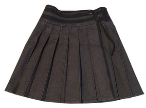 Burberry Knee-length Denim Pleated Skirt