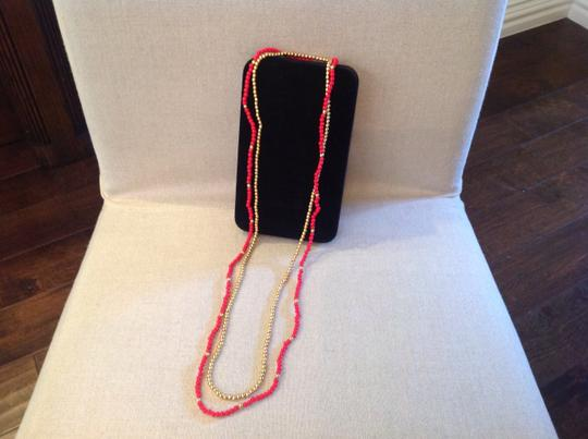 Other Red And Gold Beads Necklace