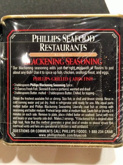 Other Phillips Seasoning Blends; Maryland Style Crab Cakes & Authentic Blackening Blend; 2 - 6oz. Canisters [ Roxanne Anjou Closet ]