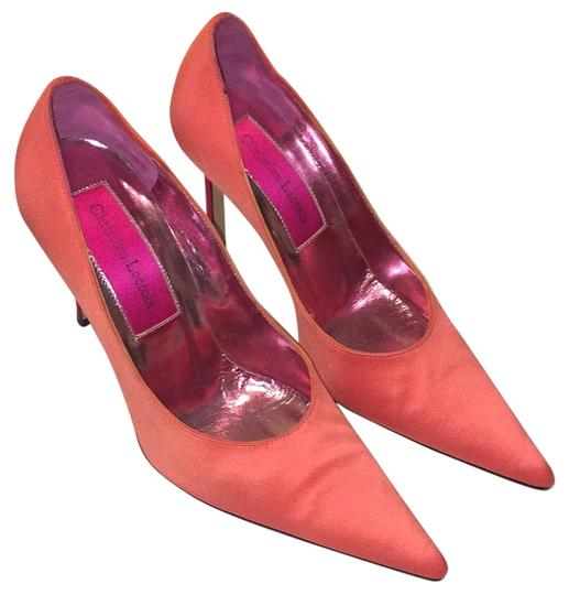 Christian Lacroix Coral and hot pink Pumps