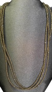 Antiqued Copper Necklace, Triple Strand, 17 Inches Long