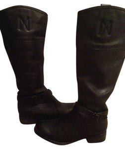 ALDO Kneehigh Black Leather Boots