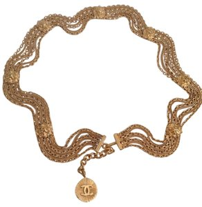 Chanel Gold Lionhead Multi-strand Chain Belt