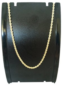 14K Solid Yellow Gold Rope Chain 20 Inches