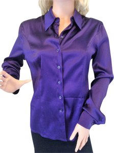 Escada Button Down Shirt Purple