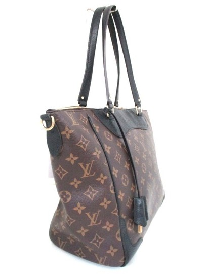 Louis Vuitton Vintage Monogram Leather Tote in Brown/Black