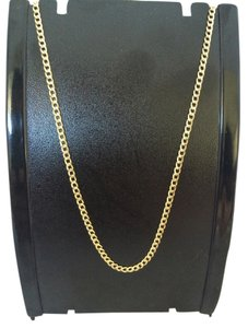 14K Solid Yellow Gold Cuban Curb Link Chain 18 Inches