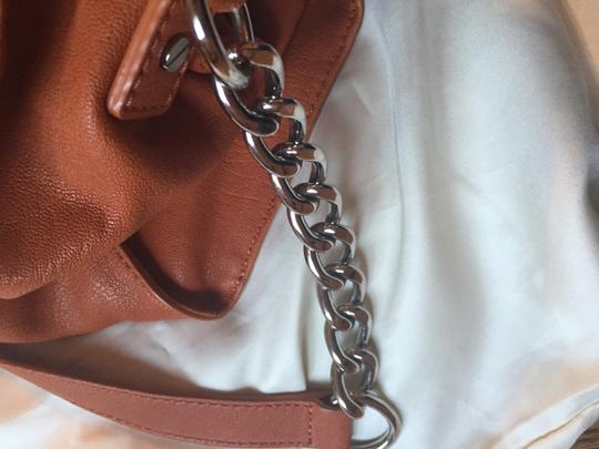 Michael Kors Leather Tote in Burnt Orange
