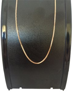 14K Soli Rose Gold Foxtail Chain 16 Inches
