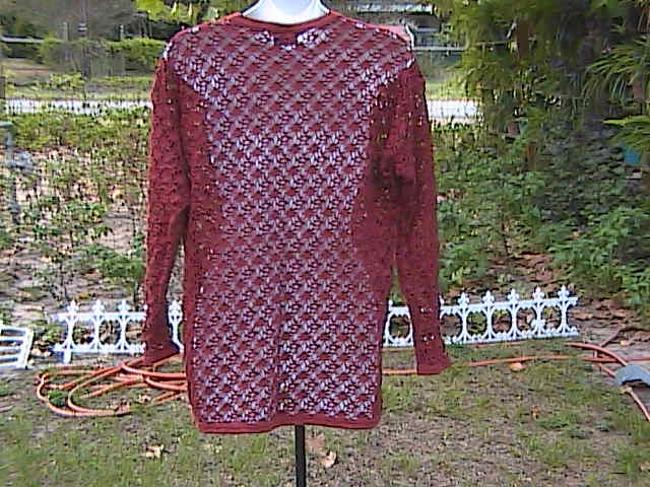 Pacific Connections Long Sleeve Crochet Sweater
