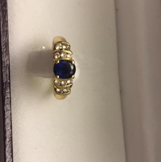 Genuine Saffire & Diamonds and 14k Gold