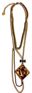 Betsey Johnson Betsey Johnson Asymmetrical Drop-Down Necklace