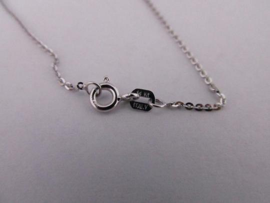 Other 14K Solid White Gold Diamond Cut Cable Chain 18 Inches