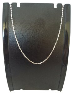 14K Solid White Gold Diamond Cut Cable Chain 20 Inches
