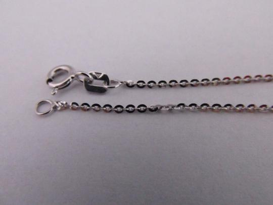 Other 14K Solid White Gold Diamond Cut Cable Chain 20 Inches