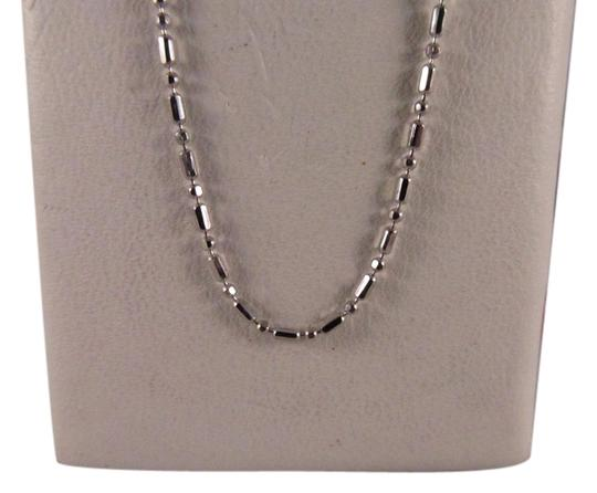 Other 14K Solid White Gold Beads Chain 16 Inches