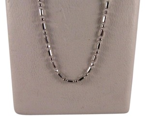 Other 14K Solid White Gold Beads Chain 18 Inches