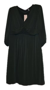 NY Collection V-neck Elastic Casual Winter Fall Made In Usa Dress