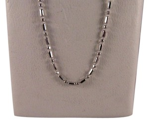 14K Solid White Gold Beads Chain 20 Inches